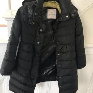 Kids Moncler long puffer coat size 10